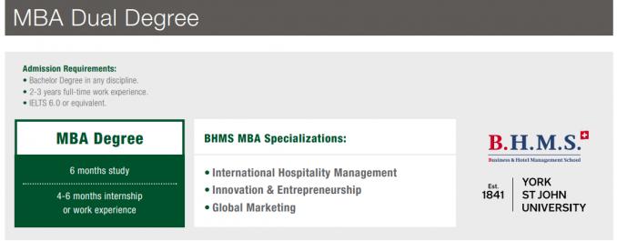 หลักสูตรปริญญาโท MBA Degree