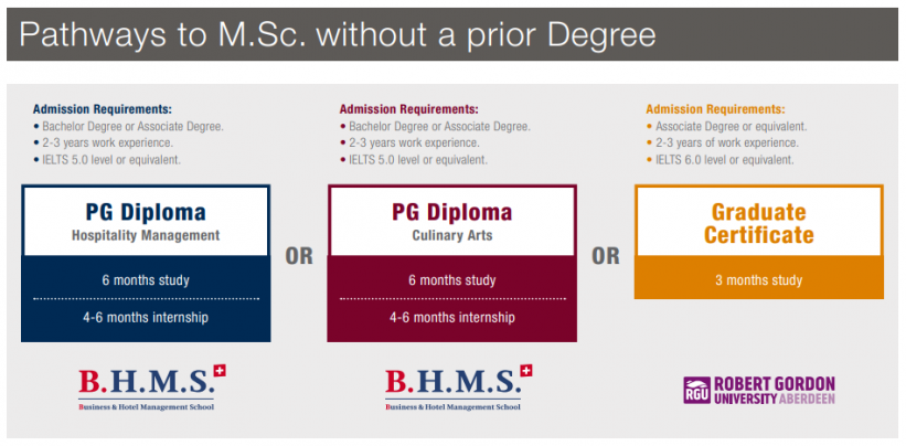 Pathways to M.Sc. without a prior Degree